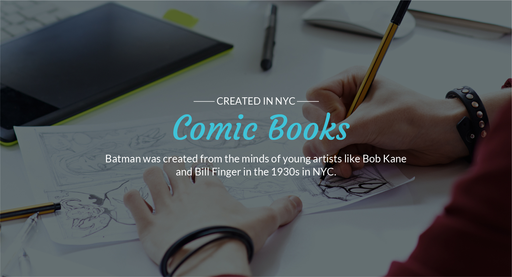 Created in NYC, Comic Books